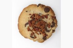Peanut butter and bacon cookies: Recipe Bacon Chocolate Chip Cookies, Bacon Cookies, Chocolate Chips, Pastry Recipes, Cookie Recipes, Pork Recipes, Wine Recipes, Big Cookie, Cookie Swap