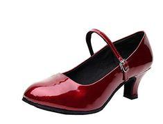 Gaorui Damen Frau Tango-Ballsaal-lateinische Salsa Walzer Charakter-Tanzschuhe Silber Rot Schwarz - http://on-line-kaufen.de/gaorui/38-eu-gaorui-damen-frau-tango-ballsaal-salsa-rot-8