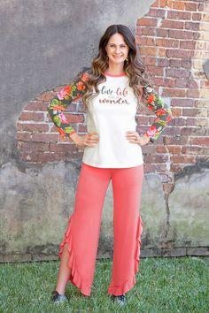 Matilda Jane Clothing | Women's Fashion | Holiday 2020 | Holiday Fashion | Ruffles | Graphic Tees Dress Outfits, Girl Outfits, Dresses, Holiday Fashion, Women's Fashion, Jane Clothing, Matilda Jane, Bell Bottom Jeans, Ruffles