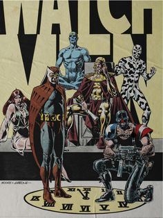 """Rob's Room: Watchmen Blitz - """"Watch out! Comic Book Artists, Comic Artist, Comic Books Art, Dc Comics Art, Anime Comics, Comic Character, Character Design, Manhattan, Dave Gibbons"""