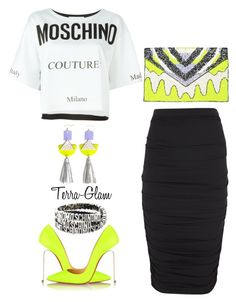 """Get Noticed!!"" by terra-glam ❤ liked on Polyvore featuring Lanvin, Christian Louboutin and Moschino"