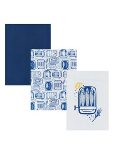 d7991770 BuyJohn Lewis & Partners Sardines Tea Towels, Assorted, Pack of 3  Online at