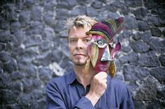 David Bowie at Frida Kalho´s house/museum in Coyoacan, on the south side of…