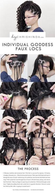 Crochet faux locs tutorial – Bomba Soul locs – Goddess locs. DIY faux locs. How to install faux locs. Bobbi Boss locs. #fauxlocs #crochethairstyles #protectivestyle #naturalhair