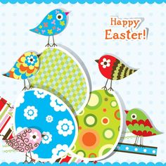 Happy Easter Colorful Eggs Image