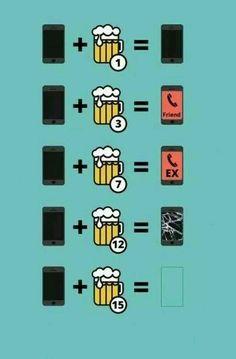 Lo que pasa con tu teléfono cuando bebes alcohol