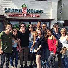 """""""Fun fact"""" The day we all found out we got our roles on """"Greenhouse Academy"""" we went to go eat and saw this juice bar called """"Green House juice bar"""" ... it was meant to be - @chrisoneal4"""