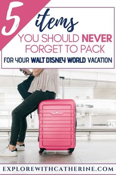 A Disney Vacation is like no other, and that includes the packing list. But, no matter what is on the agenda, there are some (unusual) things that I NEVER forget to pack. Disney World Packing, Disney Travel Agents, Disney World Vacation Planning, Disney World Parks, Walt Disney World Vacations, Disney Planning, Run Disney, Disney Tips, Disney Cruise Line