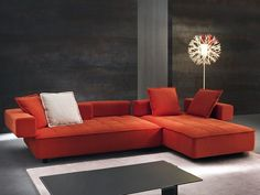 Convertible sofa with chaise longue ZOOM by Divanidea
