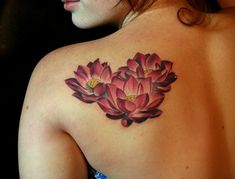 Tattoo's For > Lotus Tattoo Shoulder Blade