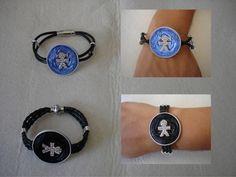 Armbänder mit Männchen und Lederband