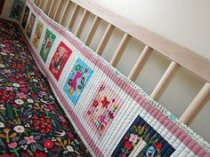 a Seriously Awesome quilted crib bumper Baby Bumper, Baby Sewing Projects, Baby Makes, Cribs, Quilting, Things To Come, Craft Ideas, Stitch, Blanket