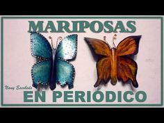 Cómo hacer mariposas de papel. How to make paper butterflies. - YouTube