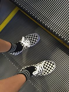 UA Authentic Checkerboard Sneakers by Vans- La Garçonne Sock Shoes, Vans Shoes, Cute Shoes, Me Too Shoes, Tenis Vans, Vanz, Vans Off The Wall, Mode Style, Shoe Game