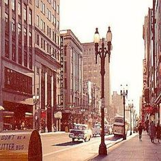 main st looking west from east ave circa early 60s