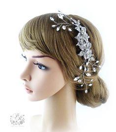 Wedding Hair Comb rhinestone & clear crystal by PureRainDesigns, $48.00