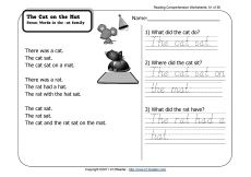 reading passages for first grade with text based comprehension questions, lots more and free!