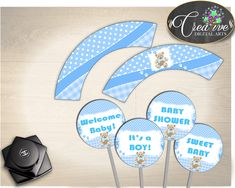 Now available: Baby Shower Teddy... http://snoopy-online.myshopify.com/products/baby-shower-teddy-bear-cupcake-toppers-and-wrappers-printable-boy-baby-shower-blue-digital-jpg-and-pdf-instant-download-tb001 #babyshower #babyshowerideas #babyshowerfavors