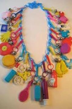 I still have one of these 80s charm necklaces, charms and all!