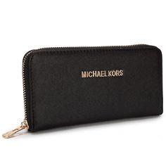 e60cb5c5c9b0 Michael Kors New Advanced Large Black Wallet Michael Kors Outlet, Cheap Michael  Kors Purses,