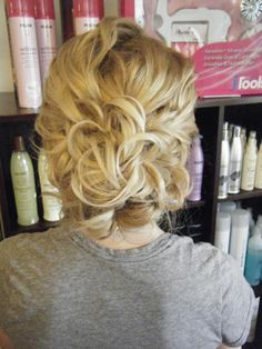 fun and messy Formal Hairstyles For Long Hair, Up Hairstyles, Pretty Hairstyles, Straight Hairstyles, Wedding Hairstyles, Long Hair Styles, Hairstyle Ideas, Love Hair, Great Hair