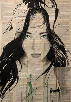 """""""Windy"""" ink and gouache drawing on archaic book pages . art by Hussein Tomeh Newspaper Art, Gouache, Volkswagen, Artworks, Art Drawings, Canvas Art, Watercolor, Ink, Photo And Video"""