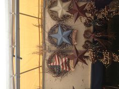 Country decor. Love stars of all kinds.
