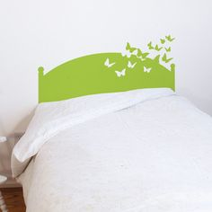 Fab.com   Butterflies By Night 24x39 Lime - Wall decal