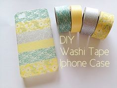diy tape phone case