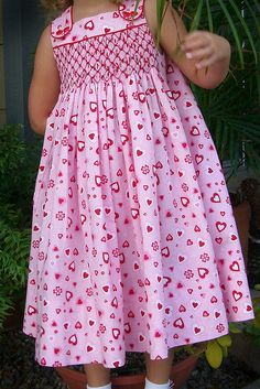 Valentine smocked dress by Angelasews, via Flickr