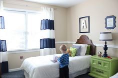 Boy's Bedroom Makeover - perfect for a transition from baby room to big boy room.