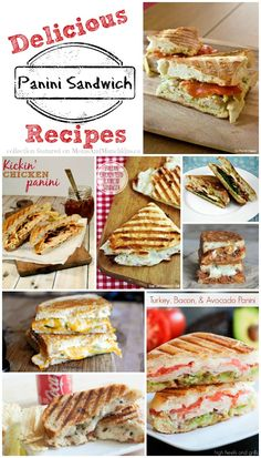 This collection of panini sandwich recipes will leave you drooling! There are so many delicious options so you're sure to find some to please all tastes.
