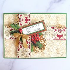 Fall and Christmas Border Stickers Made Easy! - Anna Griffin Christmas Border, Christmas Cards, Anna Griffin Cards, Make It Simple, Embellishments, Card Making, Paper Crafts, Gift Wrapping, Seasons