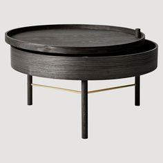 Målet med Turning table var å skape et bord hvor det skulle være plass til oppbevaring av magasiner, fjernkontroller og andre ting som ofte ligger rundt og slenger.