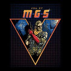 """MGS V"" by Adam Works is $10 today at ShirtPunch.com (10/18). #tshirt #MetalGearSolid #MGS #BigBoss #VideoGames #RetroGames #NES #Gaming"