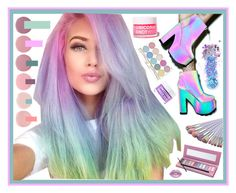"""""""Unicorn hair"""" by beanpod ❤ liked on Polyvore featuring beauty, Toni&Guy, Deborah Lippmann, Y.R.U., Lime Crime, FCTRY, The Gypsy Shrine and In Your Dreams"""