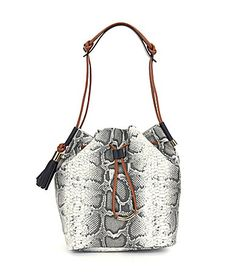 203f15536a Vince Camuto Lorin Python-Embossed Bucket Bag