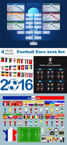 Vectors - Football Euro 2016 Set