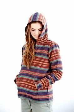 Vintage-inspired Baja surf poncho by Faherty Brand