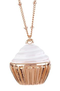 Cupcake Pendant Necklace