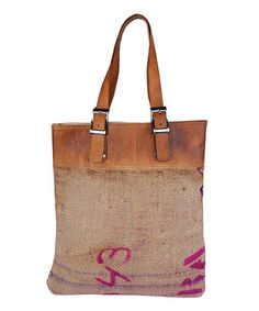 Natural & Salmon Soleil Bag by Karma Living