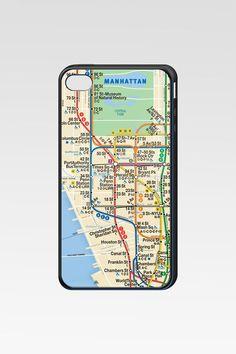 Manhattan Subway Map iPhone Case