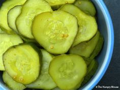 Bread and Butter Pickles at The Hungry Mouse (no canning)