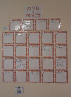 mur de mots - Nurvero - La vie en classe