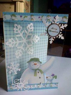 snowman and snowdog card
