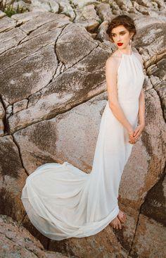 Old Hollywood Glamour Wedding Dress. A by ElikaInLove on Etsy Wedding Dress Chiffon, Perfect Wedding Dress, Bridal Gowns, Wedding Gowns, Backless Wedding, Wedding Beach, Wedding Tips, Wedding Venues, Wedding Planning