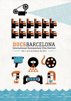 Festival DocsBarcelona 2011. Neat poster. I'd love to go to a festival that's all international documentaries. Trip to Barcelona?