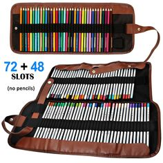 Rollable Canvas Pencil Bag - 20 Clever Ways to Organize Your Coloring Supplies