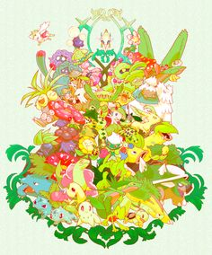 abomasnow arceus bayleef bellossom bellsprout breloom budew bug_type bulbasaur cacnea cacturne carnivine celebi cherrim cherubi chikorita cradily dark_type dppt exeggcute exeggutor fighting_type flying_type gloom grass_type grotle ground_type grovyle gsc hoppip ice_type ivysaur jumpluff leafeon legendary lileep lombre lotad ludicolo meganium nuzleaf oddish paras parasect poison_type psychic_type rby rock_type roselia roserade rse sceptile seedot shaymin shiftry shroomish skiploom snover st