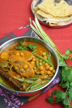 Plantain and Whole Yellow Peas Curry #Mauritiancuisine #MauritianCurry #MauritianFood Veganlovlie.com